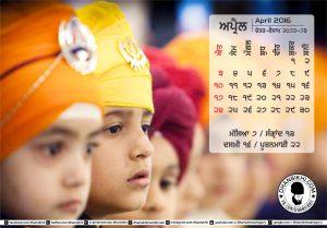 Dhansikhi-Monthly Calander-April-1