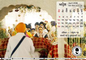 Dhansikhi-Monthly Calander-April