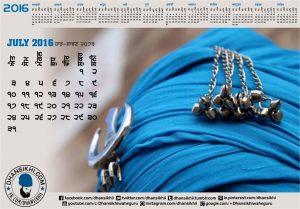 Dhansikhi-Monthly Calander-July-1