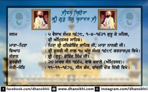 Jeevan Beaura Sri Guru Teg bahadur Sahib Ji