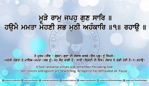 Sri Guru Granth Sahib Ji Arth Ang 19 post 9