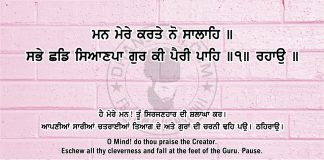 Sri Guru Granth Sahib Ji Arth Ang 43 post 14