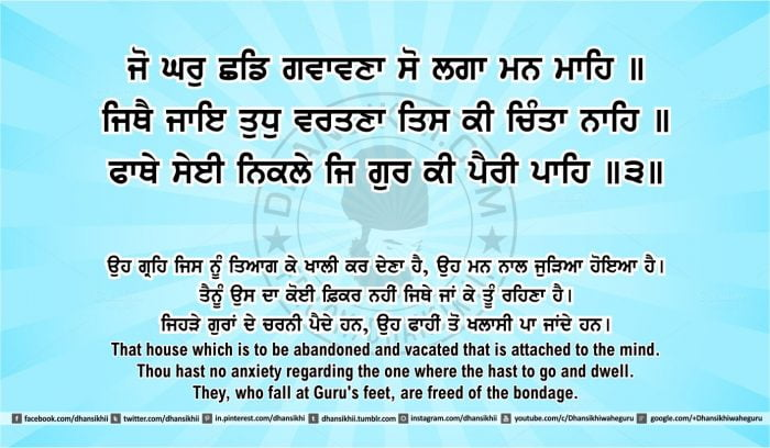 Sri Guru Granth Sahib Ji Arth Ang 43 post 5