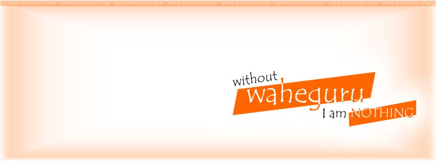 FB Covers - Without Waheguru I Am Nothing