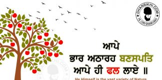 Gurbani Quotes - Aape Bhar Atharah