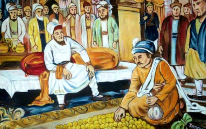 Sikh History - Todarmal paying money for land