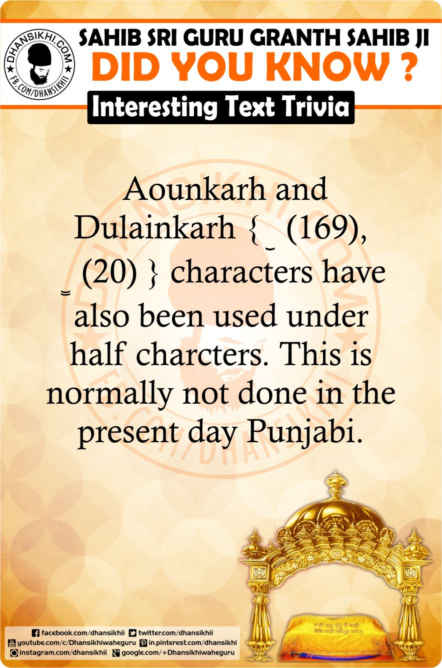 Gurbani GK - Did You Know ?