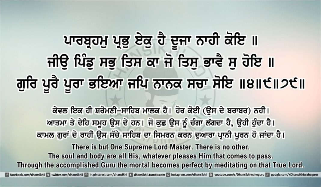 Sri Guru Granth Sahib Ji Arth Ang 45 post 10