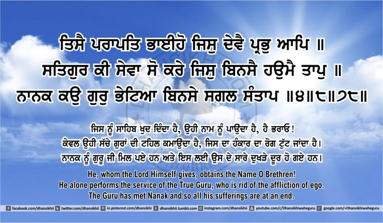 Sri Guru Granth Sahib Ji Arth Ang 45 post 4