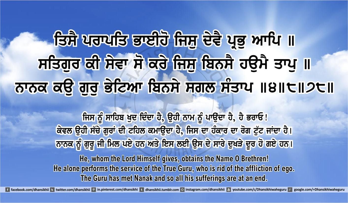 Sri Guru Granth Sahib Ji Arth Ang 45 post 4