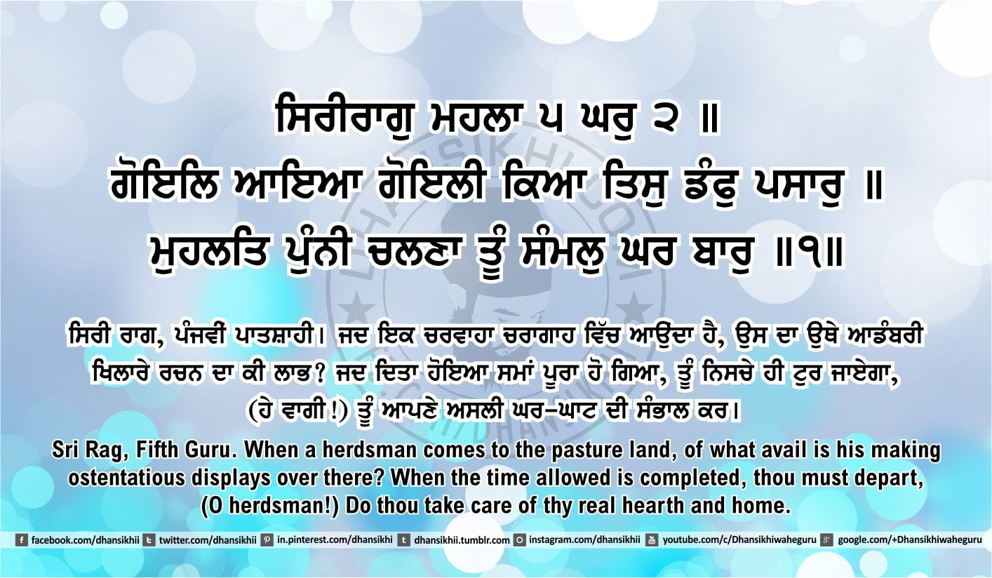 Sri Guru Granth Sahib Ji Arth Ang 50 post 9