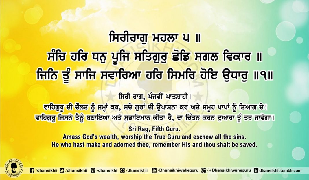 Sri Guru Granth Sahib Ji Arth Ang 51 post 6