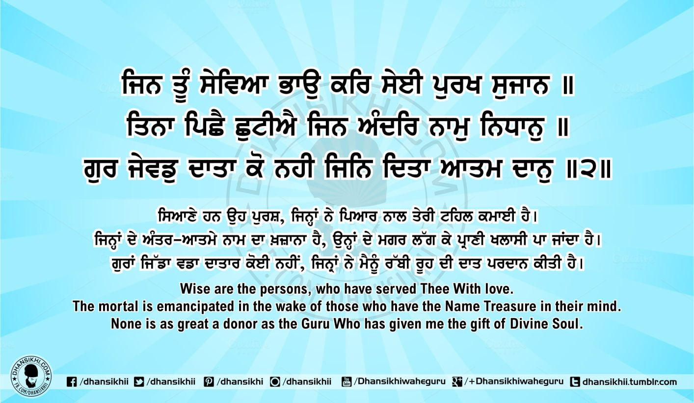 Sri Guru Granth Sahib Ji Arth Ang 52 post 5