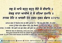 Sri Guru Granth Sahib Ji Arth Ang 53 post 13