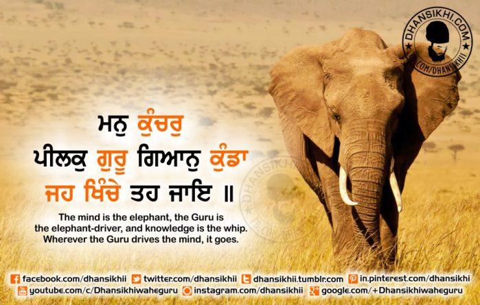 Gurbani Quotes - Man Kunchar Peelak Guru