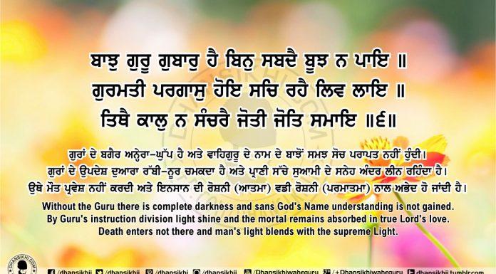 Sri Guru Granth Sahib Ji Arth Ang 55 post 12