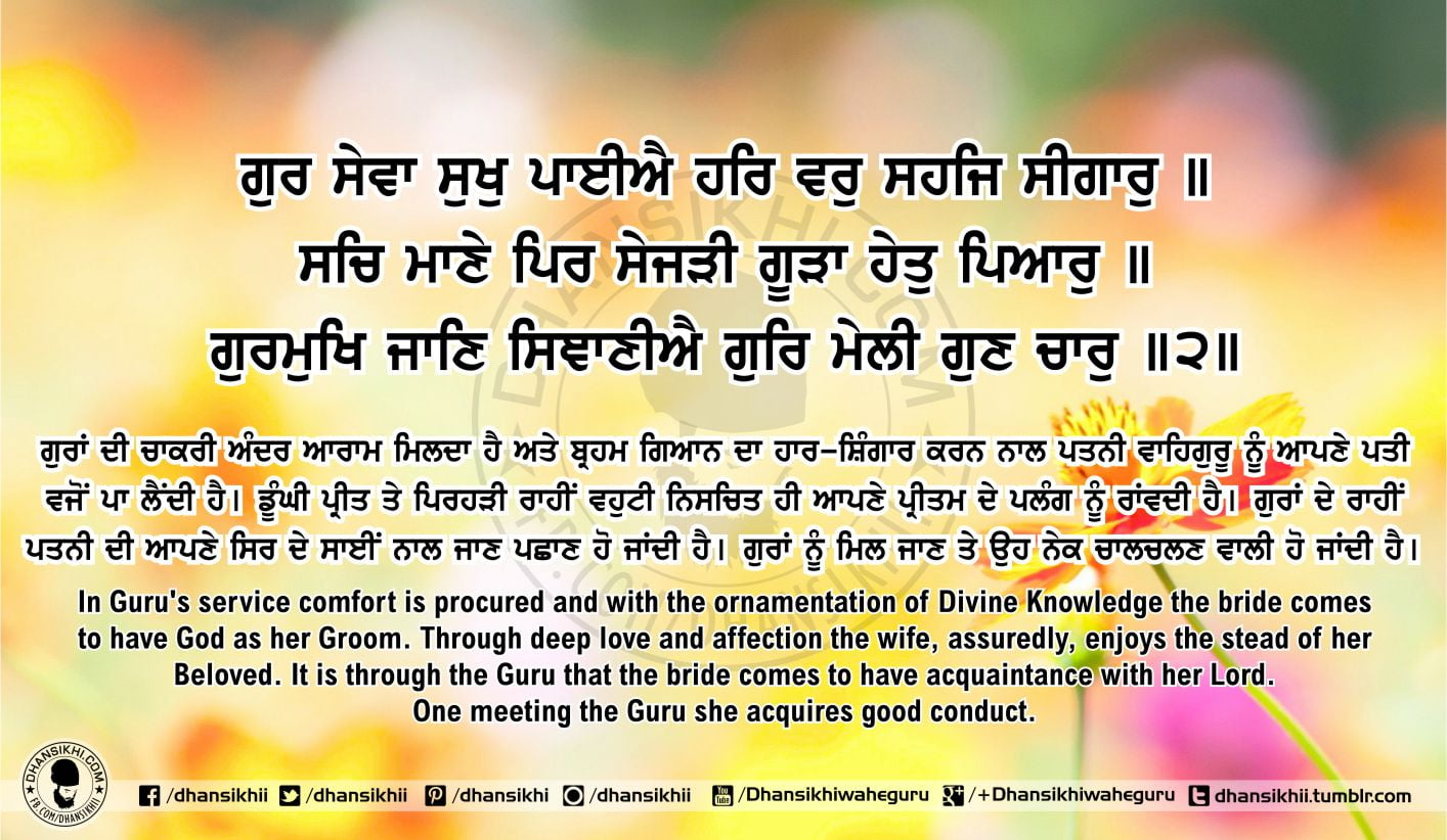 Sri Guru Granth Sahib Ji Arth Ang 58 Post 12