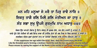 Sri Guru Granth Sahib Ji Arth Ang 58 Post 14