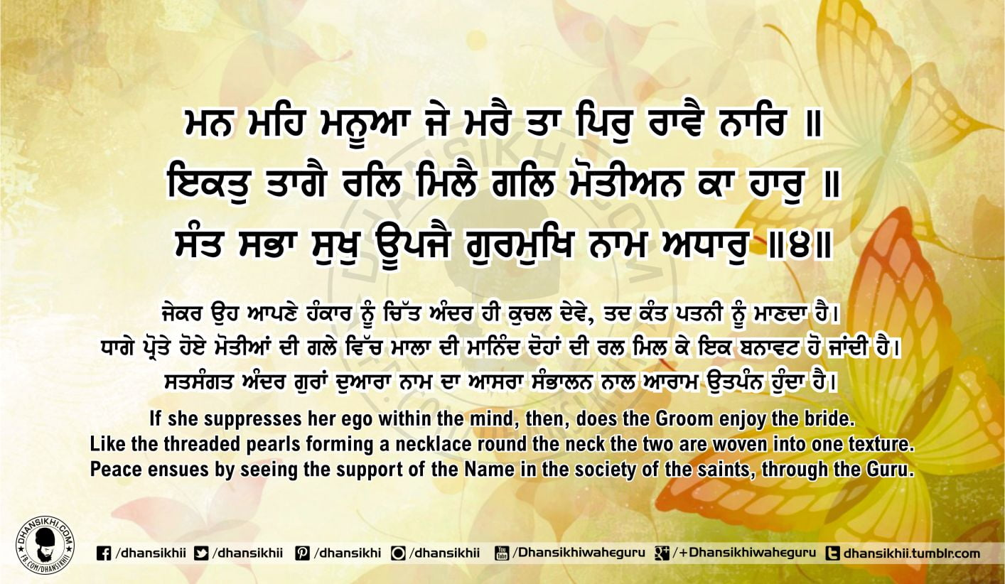 Sri Guru Granth Sahib Ji Arth Ang 58 Post 14