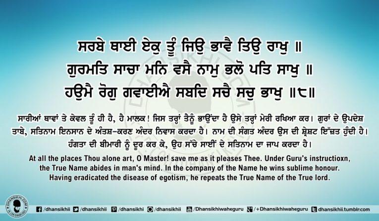 Sri Guru Granth SahibJi Arth Ang 62 Post 1