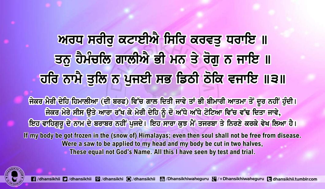 Sri Guru Granth Sahib Ji Arth Ang 62 Post 7