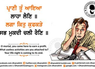 Gurbani Quotes - Praanee Thoon Aaeiaa Laahaa