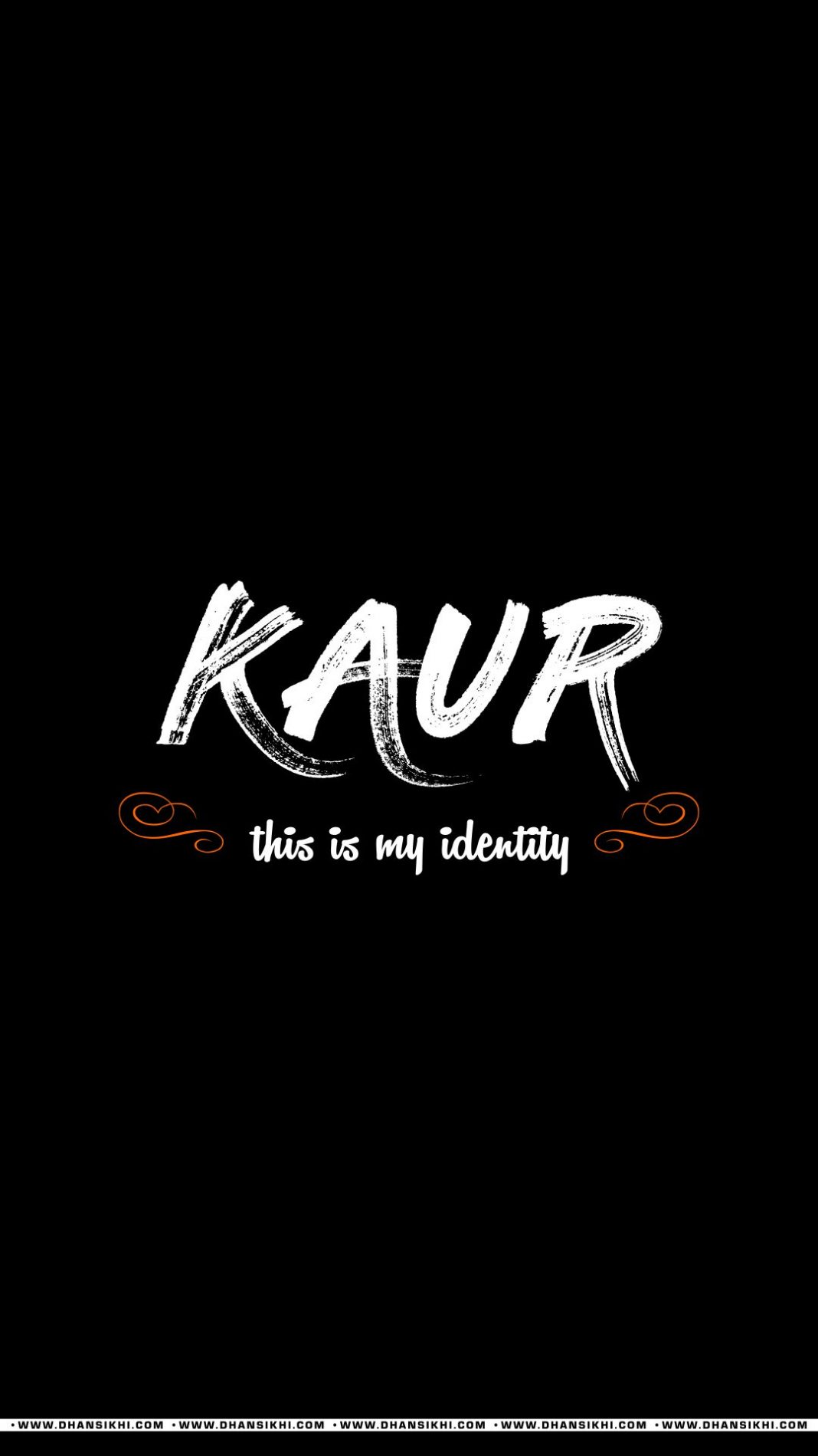 Mobile Wallpaper - Kaur Is My Identity