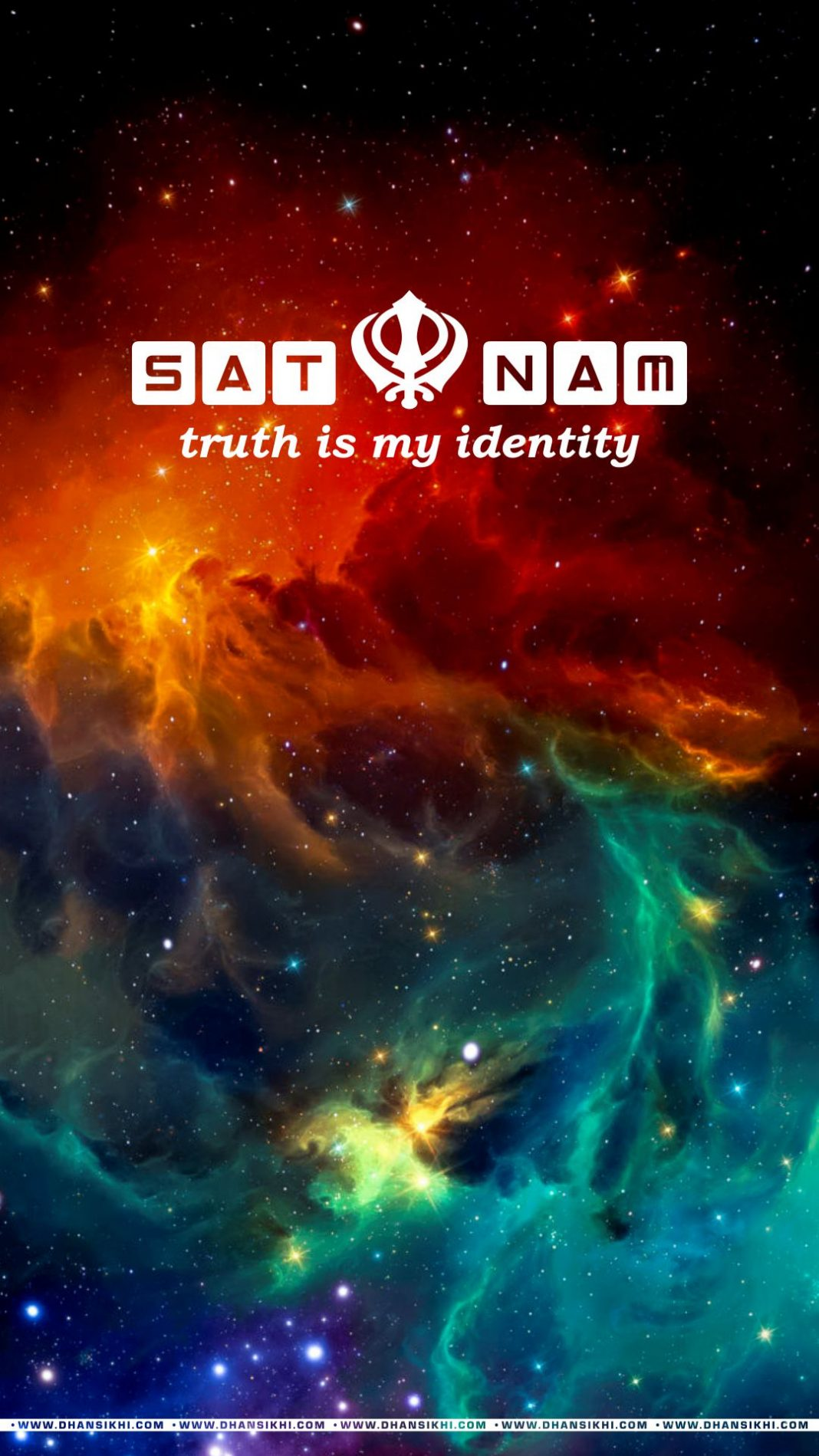 Mobile Wallpaper - Satnam Truth My Identity