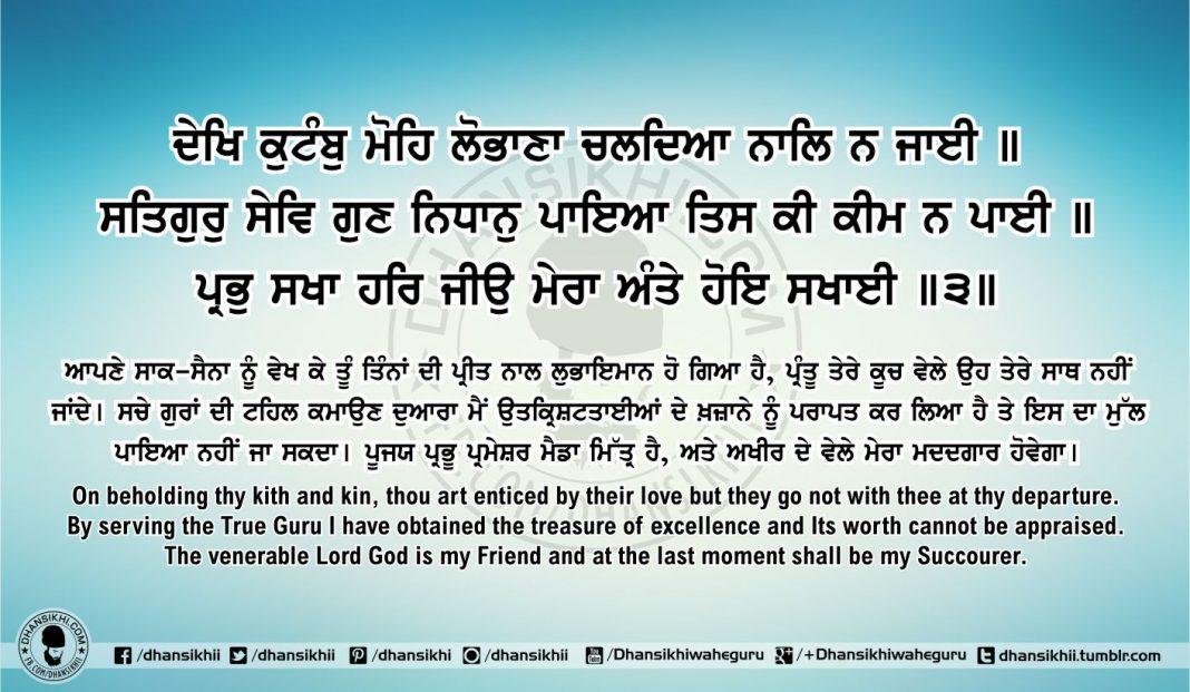 Sri Guru Granth Sahib Ji Arth Ang 65 Post 1