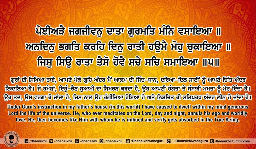 Sri Guru Granth Sahib Ji Arth Ang 65 Post 3