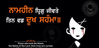 Gurbani Quotes - Naameheen Dhhrig Jeevathae Thin