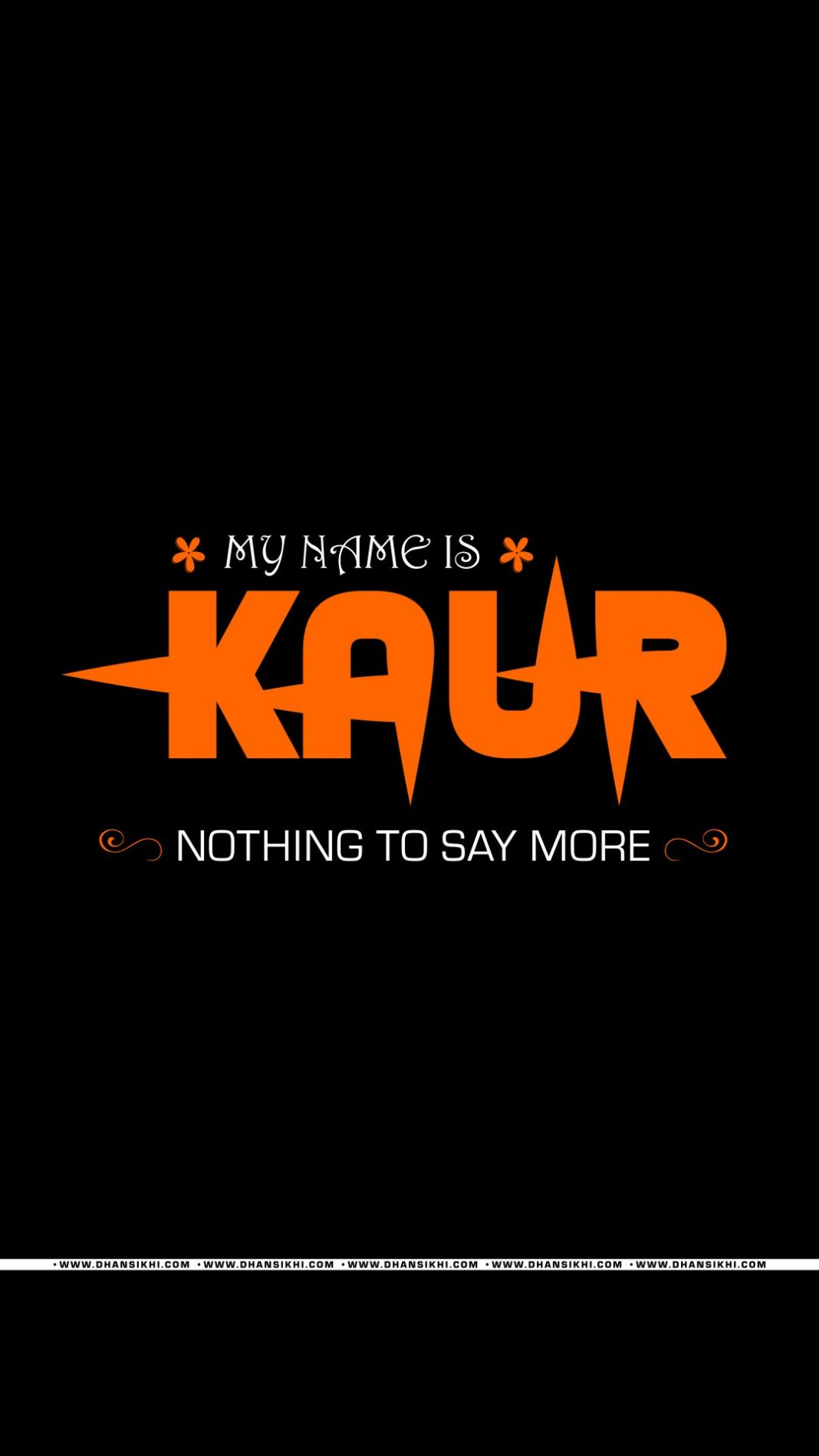 Mobile Wallpaper - My Name is Kaur