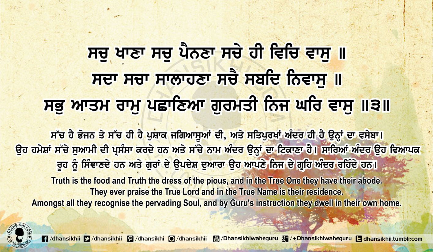 Sri Guru Granth Sahib Ji Arth Ang 69 Post 13