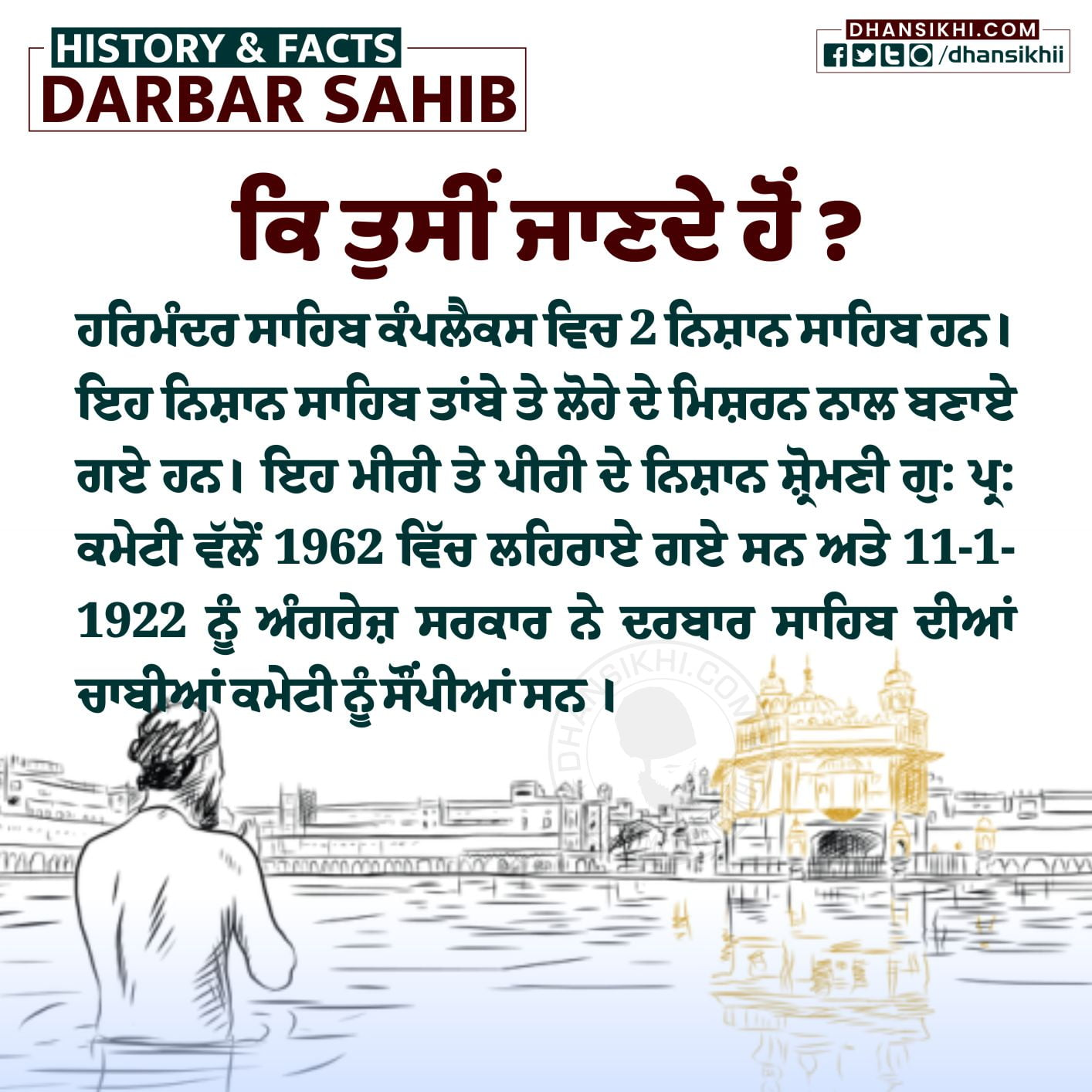 Interesting Facts and History of Darbar Sahib Complex - Dhansikhi